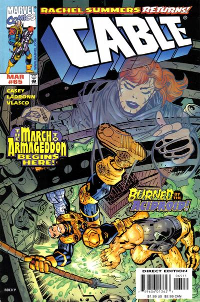 Cover for Cable (Marvel, 1993 series) #65 [Direct Edition]