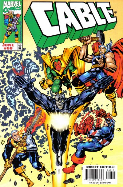 Cover for Cable (Marvel, 1993 series) #68 [Direct Edition]