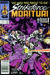 Cover Thumbnail for Strikeforce: Morituri (Marvel, 1986 series) #1 [Newsstand]