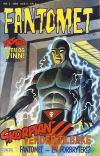 Cover Thumbnail for Fantomet (Semic, 1976 series) #3/1986