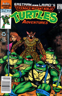 Cover Thumbnail for Teenage Mutant Ninja Turtles Adventures (Archie, 1989 series) #31 [Newsstand Edition]
