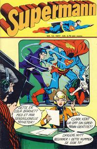 Cover Thumbnail for Supermann (Semic, 1977 series) #13/1977