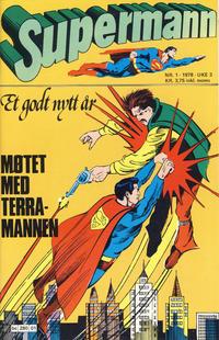 Cover Thumbnail for Supermann (Semic, 1977 series) #1/1978