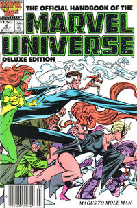 Cover Thumbnail for The Official Handbook of the Marvel Universe (Marvel, 1985 series) #8 [Newsstand]