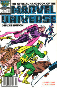 Cover Thumbnail for The Official Handbook of the Marvel Universe (Marvel, 1985 series) #7 [Newsstand]