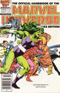 Cover Thumbnail for The Official Handbook of the Marvel Universe (Marvel, 1985 series) #11 [Newsstand]