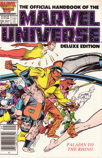 Cover Thumbnail for The Official Handbook of the Marvel Universe (Marvel, 1985 series) #10 [Newsstand]