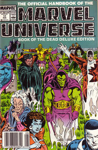 Cover Thumbnail for The Official Handbook of the Marvel Universe (Marvel, 1985 series) #17 [Newsstand]