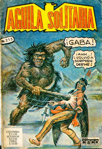 Cover for Aguila Solitaria (Editora Cinco, 1976 ? series) #213