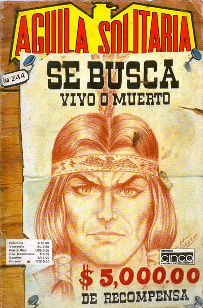 Cover for Aguila Solitaria (Editora Cinco, 1976 ? series) #244
