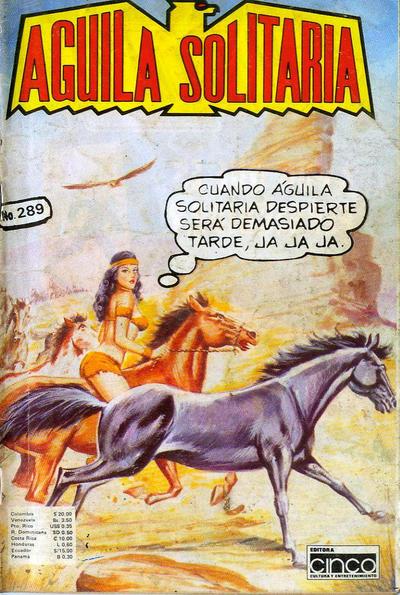 Cover for Aguila Solitaria (Editora Cinco, 1976 ? series) #289