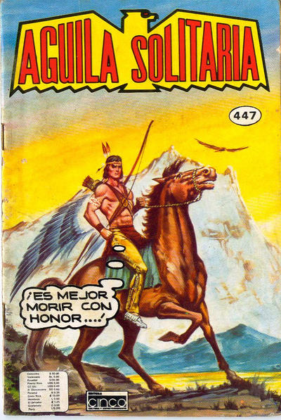 Cover for Aguila Solitaria (Editora Cinco, 1976 ? series) #447