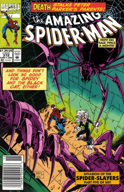 Cover for The Amazing Spider-Man (Marvel, 1963 series) #372 [Newsstand]