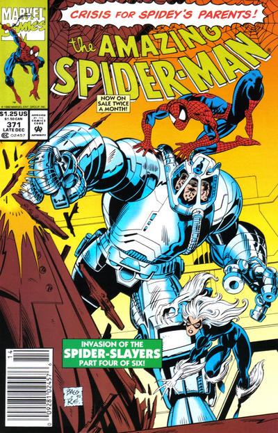 Cover for The Amazing Spider-Man (Marvel, 1963 series) #371 [Direct Edition]