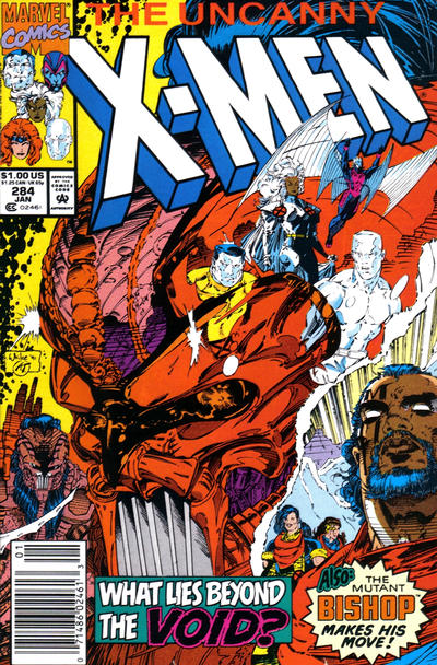 Cover for The Uncanny X-Men (Marvel, 1981 series) #284 [Newsstand Edition]