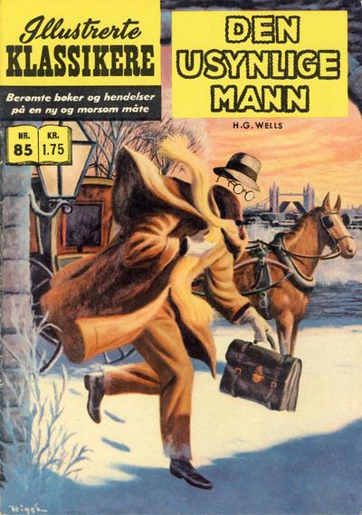 Cover for Illustrerte Klassikere [Classics Illustrated] (Illustrerte Klassikere / Williams Forlag, 1957 series) #85 - Den usynlige mann [1. opplag]