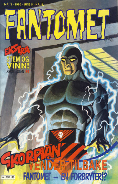 Cover for Fantomet (Semic, 1976 series) #3/1986
