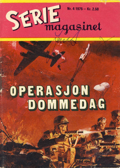 Cover for Seriemagasinet (Serieforlaget / Se-Bladene / Stabenfeldt, 1951 series) #4/1975