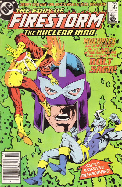 Cover for The Fury of Firestorm (DC, 1982 series) #47 [Direct]