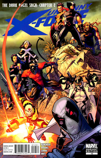 Cover for Uncanny X-Force (Marvel, 2010 series) #12