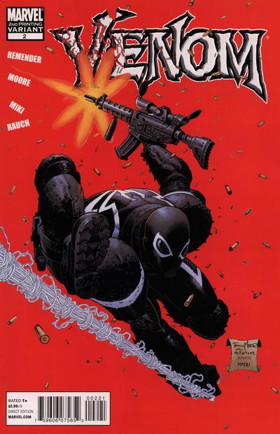 Cover for Venom (Marvel, 2011 series) #2 [Second Printing]