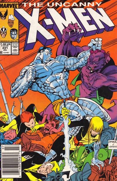 Cover for The Uncanny X-Men (Marvel, 1981 series) #231 [Direct]