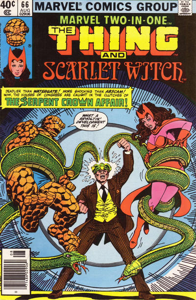 Cover for Marvel Two-in-One (Marvel, 1974 series) #66 [Direct]