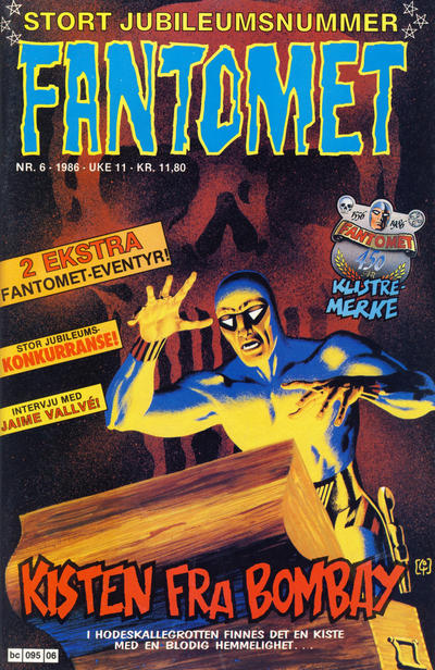 Cover for Fantomet (Semic, 1976 series) #6/1986