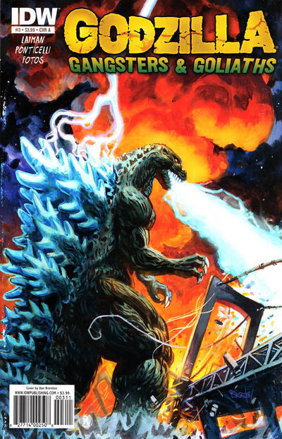 Cover for Godzilla: Gangsters and Goliaths (IDW, 2011 series) #3 [Cover B]