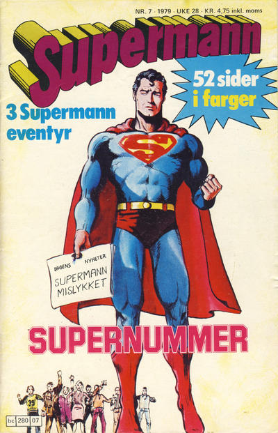 Cover for Supermann (Semic, 1977 series) #7/1979