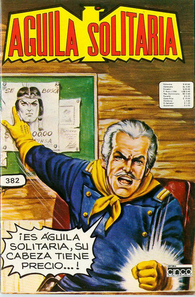 Cover for Aguila Solitaria (Editora Cinco, 1976 ? series) #382
