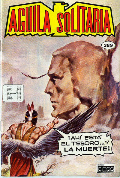 Cover for Aguila Solitaria (Editora Cinco, 1976 ? series) #389