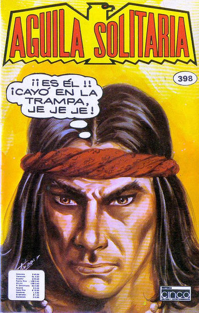 Cover for Aguila Solitaria (Editora Cinco, 1976 ? series) #398
