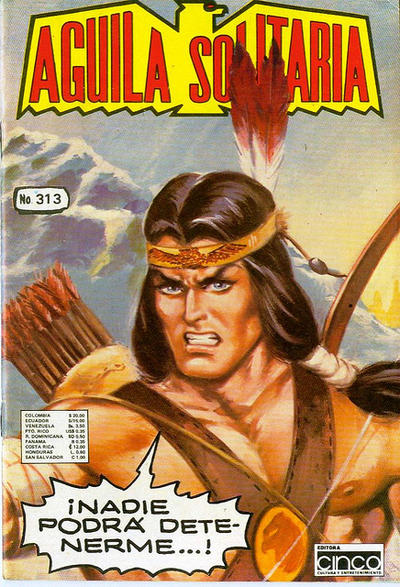 Cover for Aguila Solitaria (Editora Cinco, 1976 ? series) #313