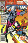Cover for Web of Spider-Man (Marvel, 1985 series) #17 [Newsstand Edition]