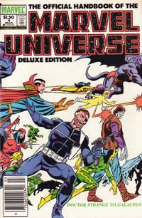 Cover Thumbnail for The Official Handbook of the Marvel Universe (Marvel, 1985 series) #4 [Newsstand]