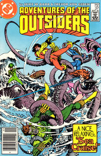 Cover Thumbnail for Adventures of the Outsiders (DC, 1986 series) #37 [Newsstand Edition]