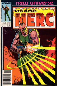 Cover Thumbnail for Mark Hazzard: Merc (Marvel, 1986 series) #1 [Newsstand]