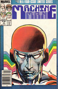 Cover Thumbnail for Machine Man (Marvel, 1984 series) #4 [Newsstand Edition]