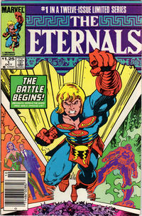 Cover Thumbnail for Eternals (Marvel, 1985 series) #1 [Newsstand]