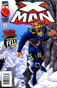 Cover for X-Man (Marvel, 1995 series) #5 [Newsstand Edition]