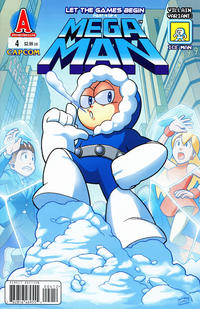Cover Thumbnail for Mega Man (Archie, 2011 series) #4 [Ice Man Villain Variant by Jamal Peppers]