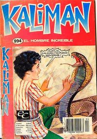 Cover Thumbnail for Kaliman (Editora Cinco, 1976 series) #994