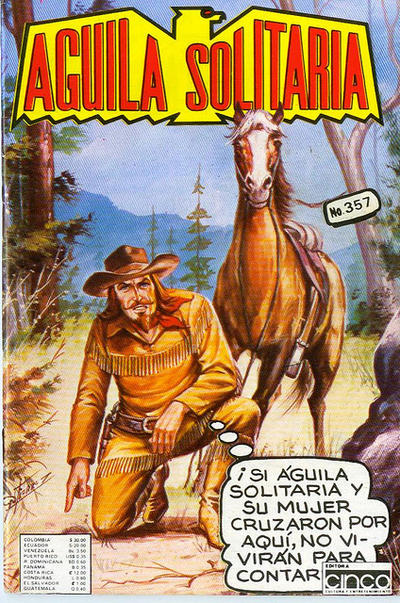 Cover for Aguila Solitaria (Editora Cinco, 1976 ? series) #357
