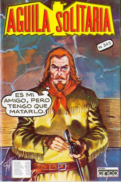 Cover for Aguila Solitaria (Editora Cinco, 1976 ? series) #345