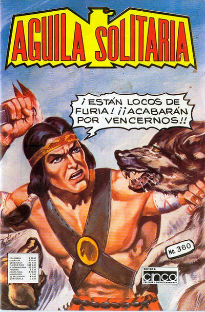 Cover for Aguila Solitaria (Editora Cinco, 1976 ? series) #360