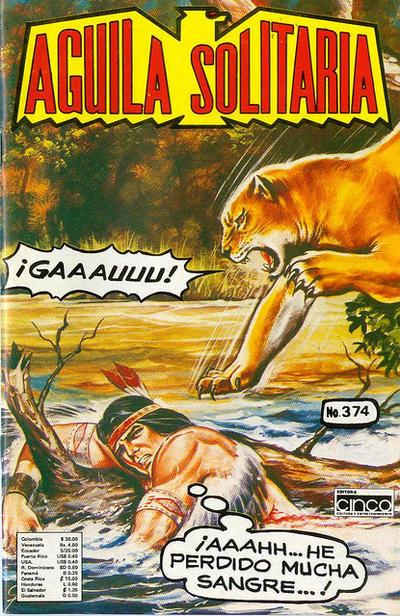 Cover for Aguila Solitaria (Editora Cinco, 1976 ? series) #374