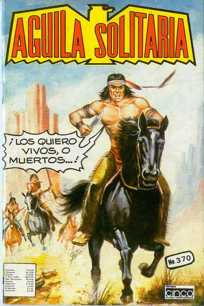 Cover for Aguila Solitaria (Editora Cinco, 1976 ? series) #370