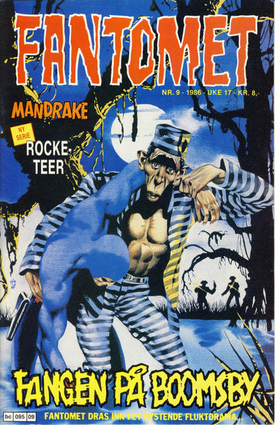 Cover for Fantomet (Semic, 1976 series) #9/1986