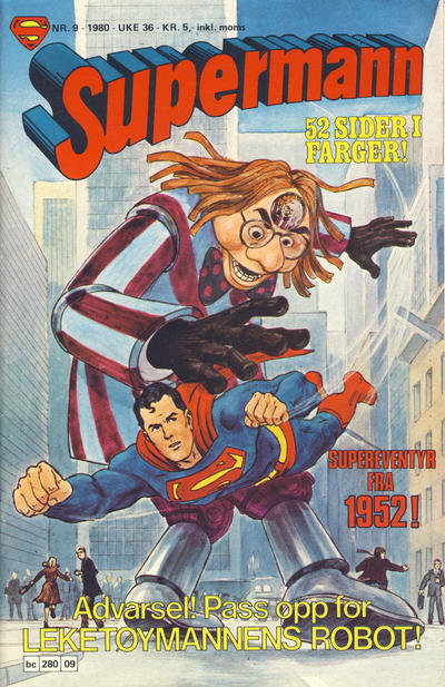 Cover for Supermann (Semic, 1977 series) #9/1980